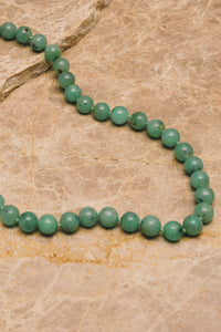 beaded chrysoprase silk strung necklace