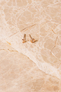 rose gold vermeil xo stud earrings