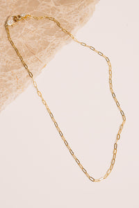 gold mask chain necklace link chain