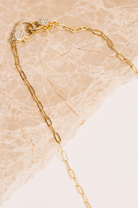 gold chain necklace closeup