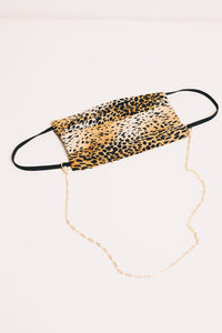 gold mask chain necklace