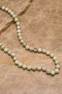 lemon chrysoprase beaded necklace