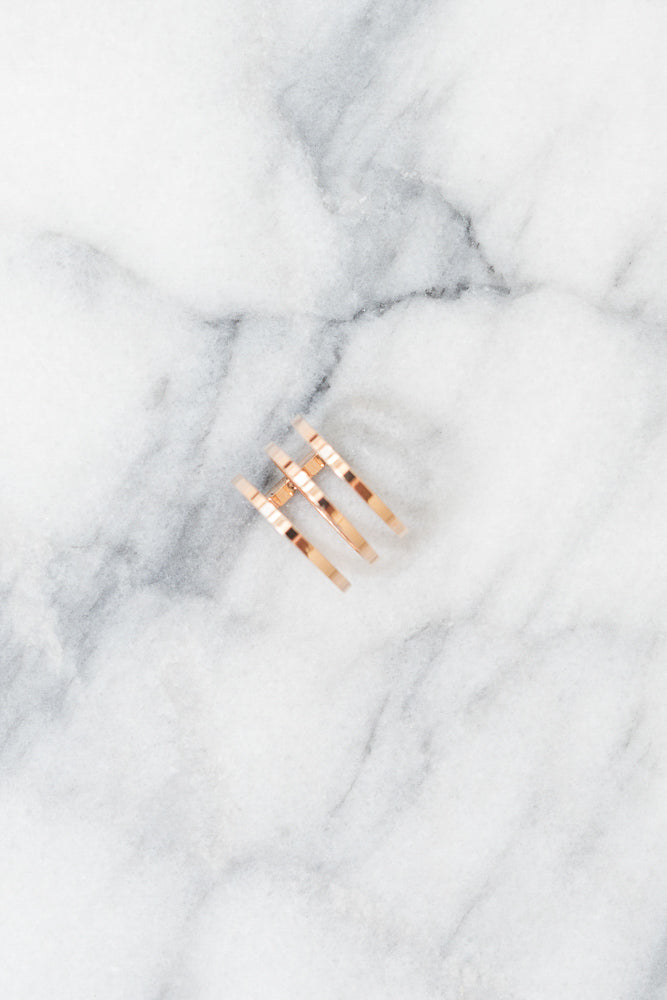 rose gold statement ring above view