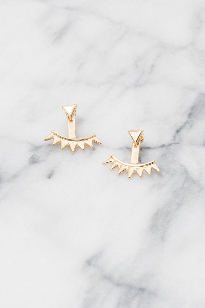 gold triangle earring jackets