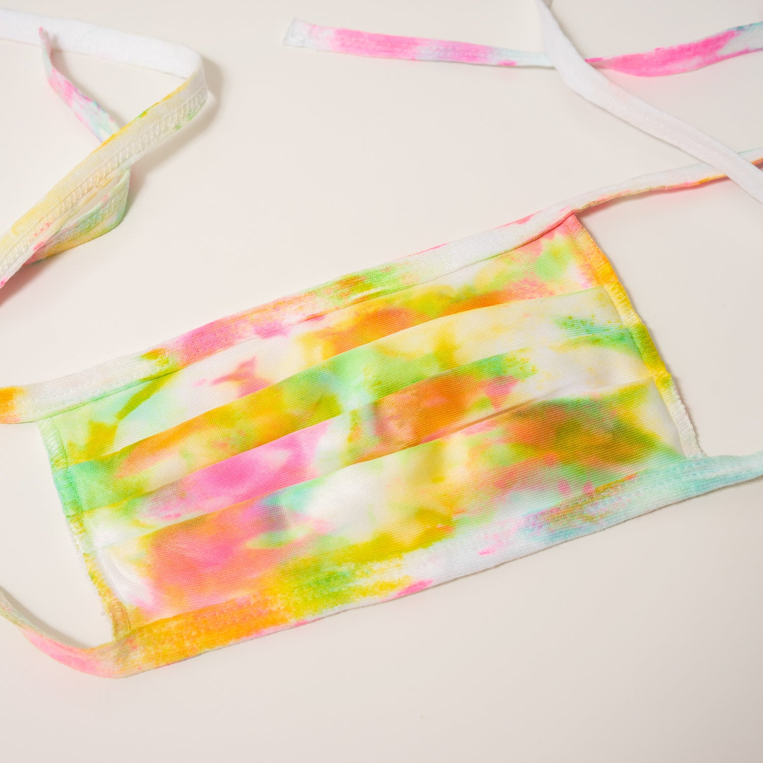 neon tie dye reusable adjustable face mask
