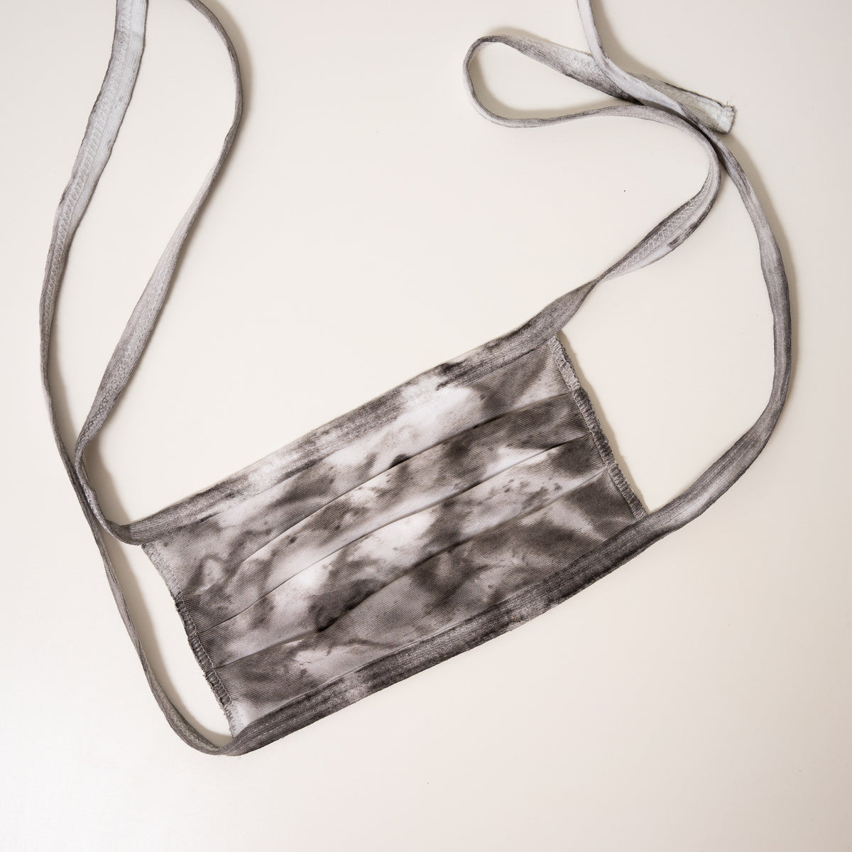 black and white tie dye reusable adjustable face mask