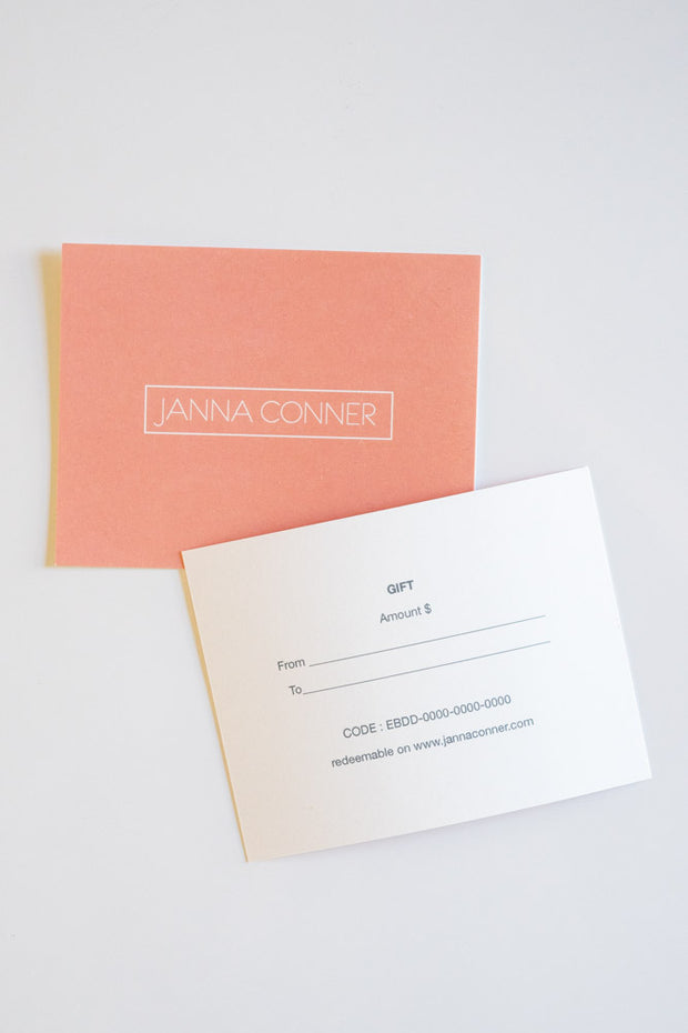 Gift Card | Janna Conner | Holiday Sale