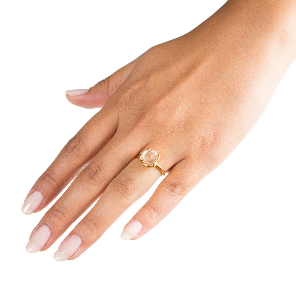 Selda Ring | Crystal | 18k Gold Plating | Janna Conner | Sale
