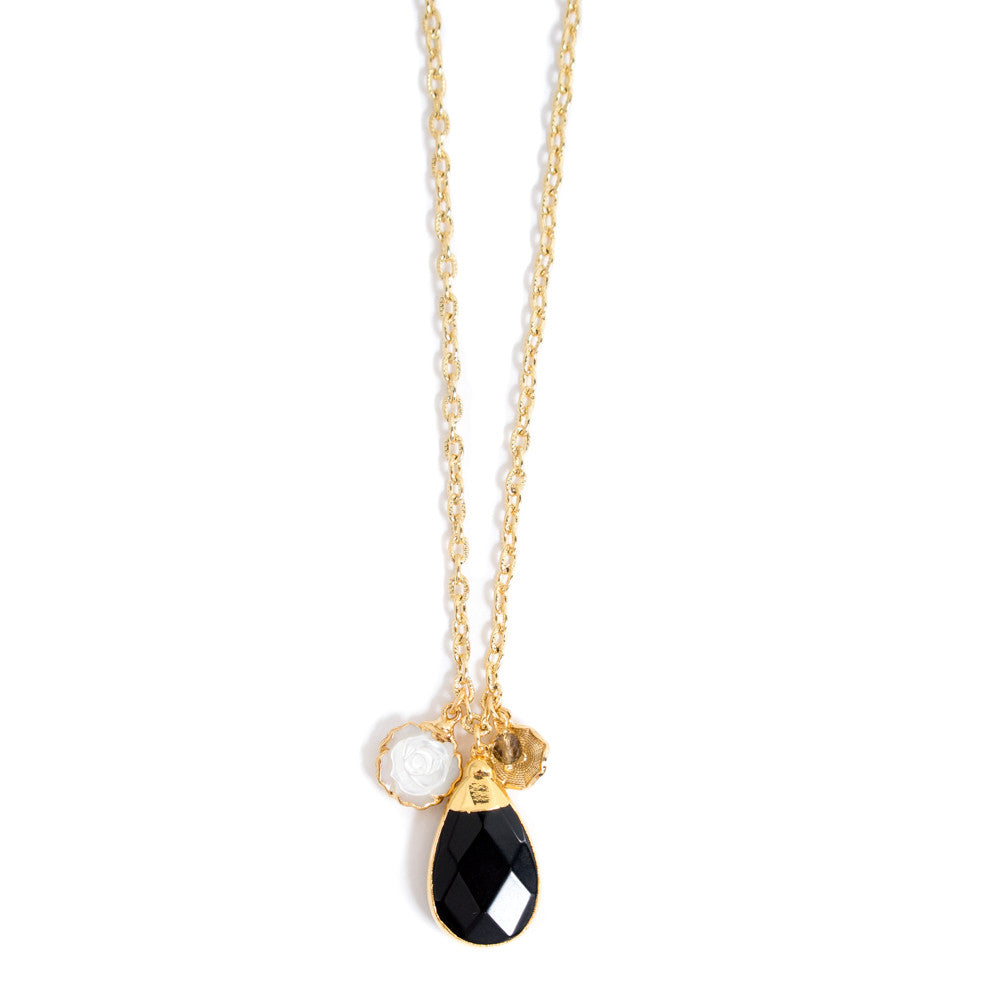 6328N Thora Necklace Onyx