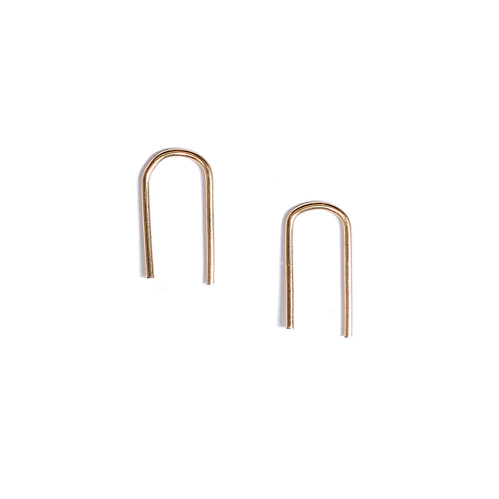 gold wire threader earrings