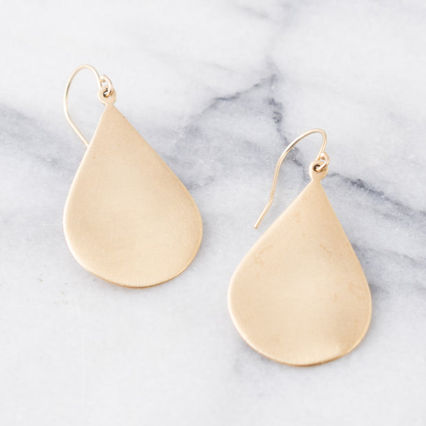 Gold Teardrop Earrings | 14K Gold | Janna Conner