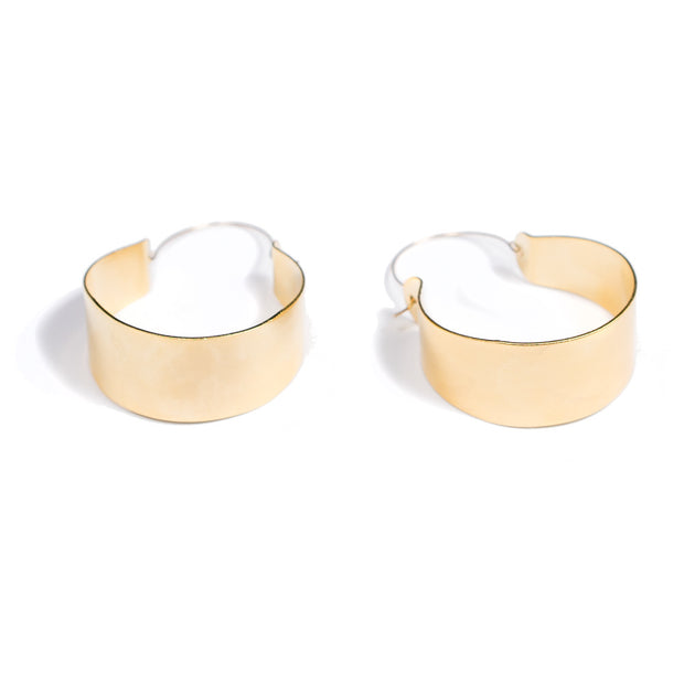 Cali Oversized Hoop  Earrings | 18K Gold Plating | Janna Conner