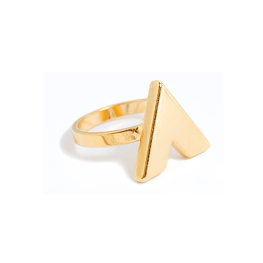 Halona Ring | V ring | 18k Gold Plating | Janna Conner | Sale