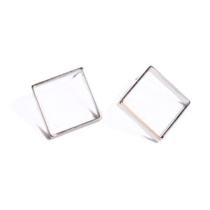 Shaina Studs | 18k White Gold Plating | Janna Conner