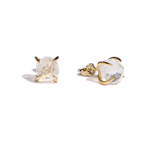 rock crystal prong set stud earrings