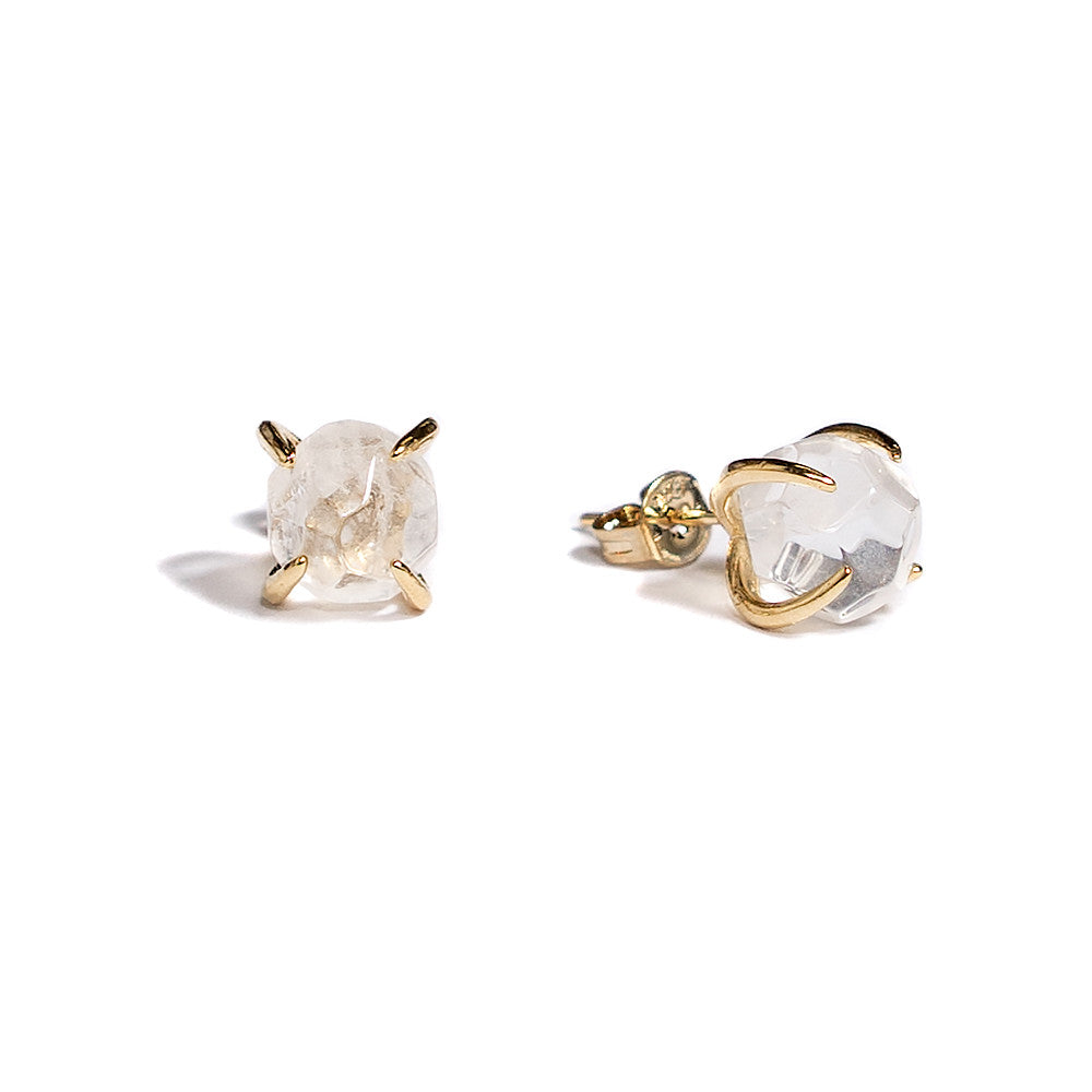 Aliya Earrings | Rock Crystal | 18k Gold Plating | Janna Conner