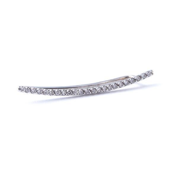 white gold diamond ear climber earring