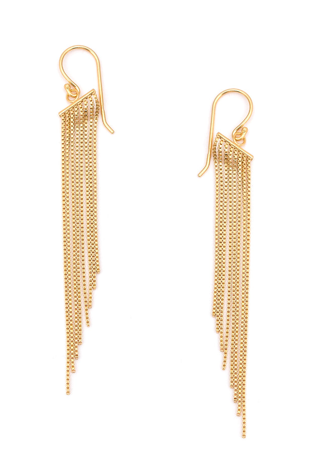 Maretta | Chain Drape Earrings | Sterling Silver | Janna Conner