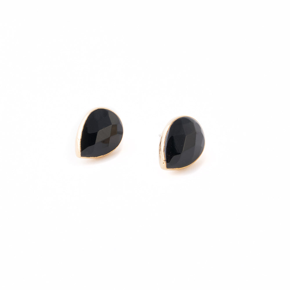 Karlie Stud Earrings | Gold | 18k Gold Plating | Janna Conner