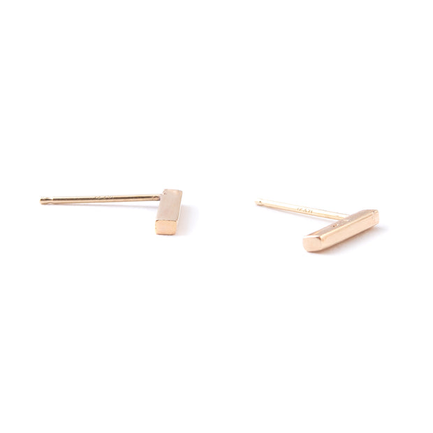Bar Earrings | 14K Gold | Janna Conner