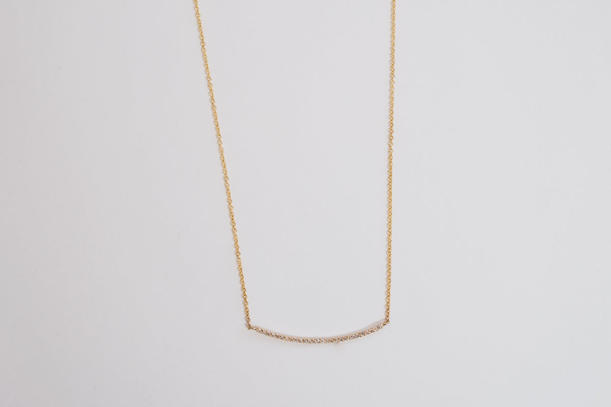 Diamond Bar Necklace | 14K Gold | Janna Conner