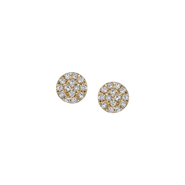 Diamond Disc Earrings | 14K Gold | Janna Conner