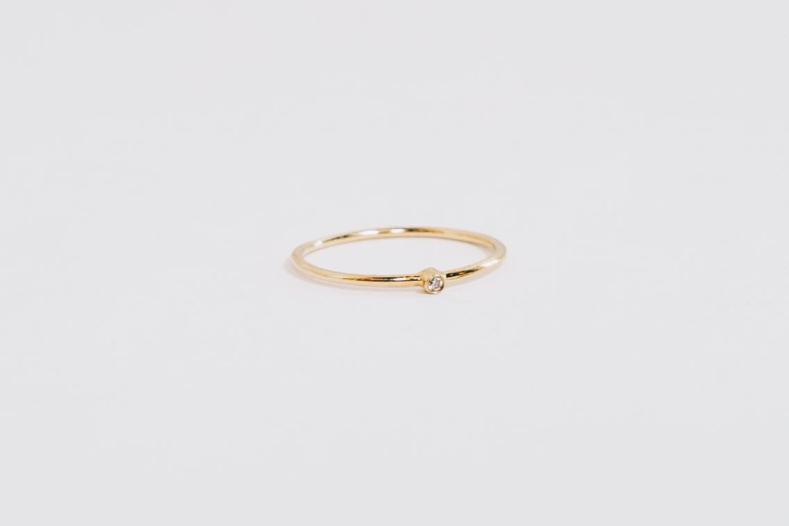 Tiny Diamond Ring | 14K gold | Janna Conner