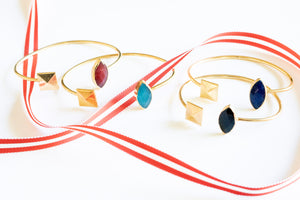 Corrie Cuff | Stud Cuff with Semi Precious Stone | Janna Conner | Holiday Sale