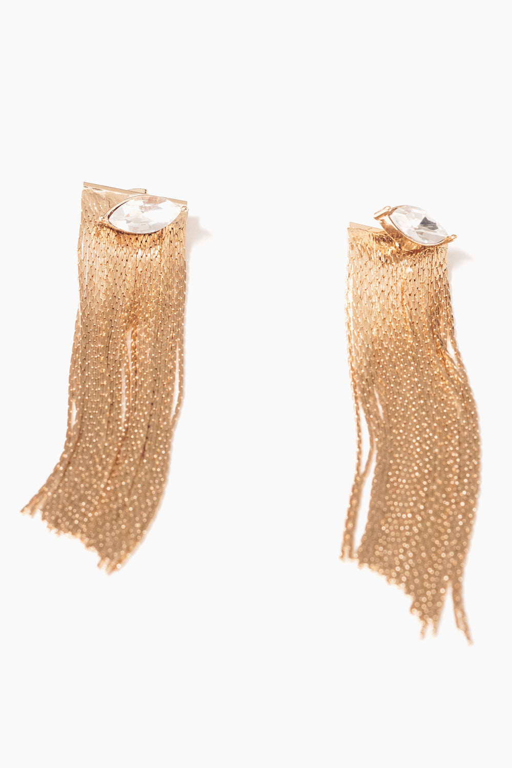 crystal marquis gold fringe chain earring jackets