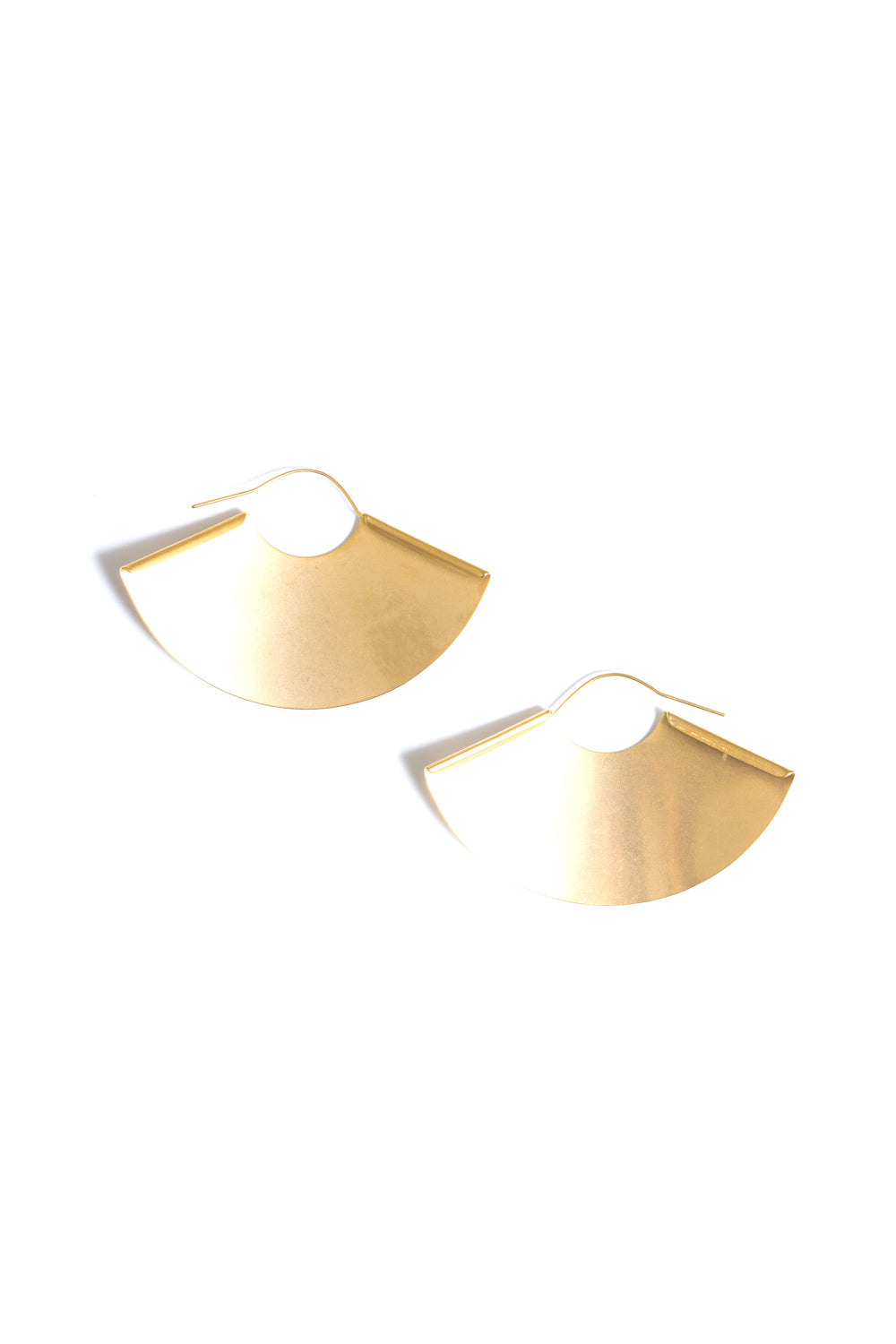 large gold hoop fan earrings janna conner