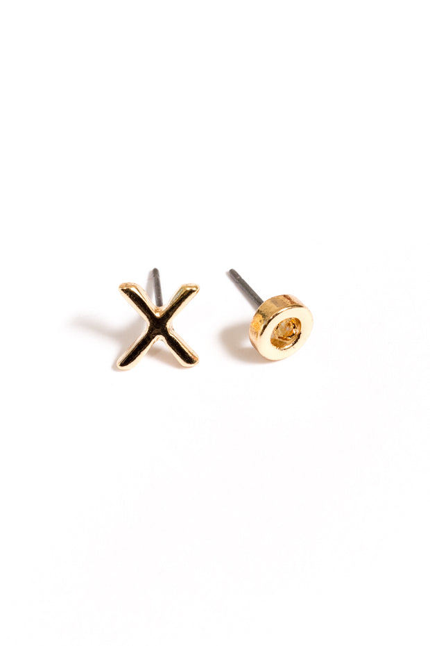 XO Stud Earrings | 18k Gold Plating | Janna Conner