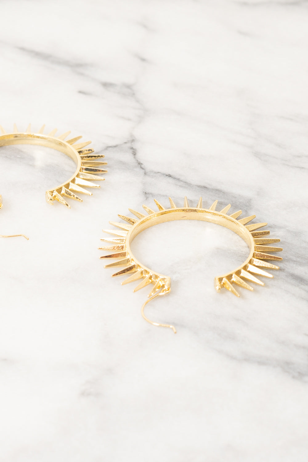 Etana Spike Hoop Earrings | 18k Gold Plating | Janna Conner