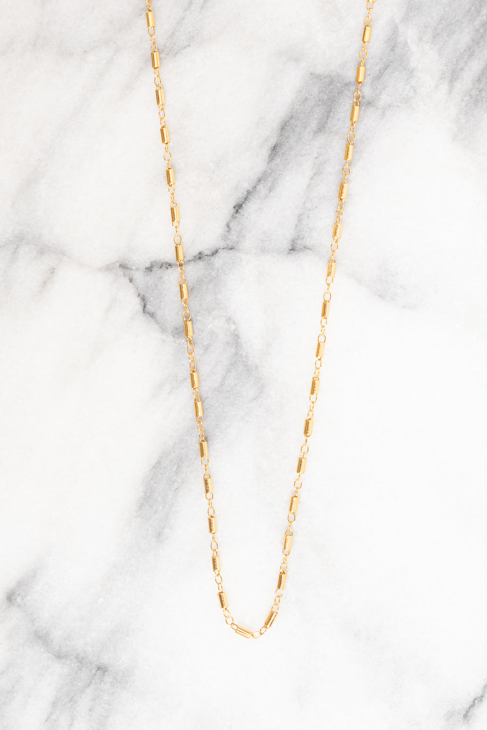 gold tube chain necklace