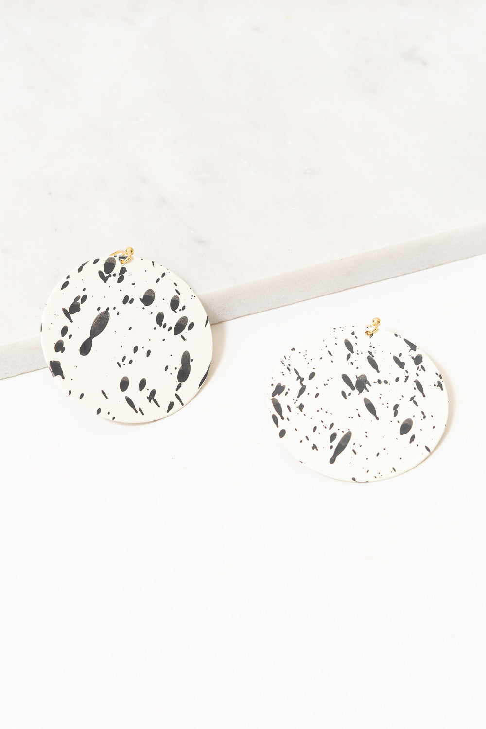 Jackson Drop Earrings | Black and White | Janna Conner