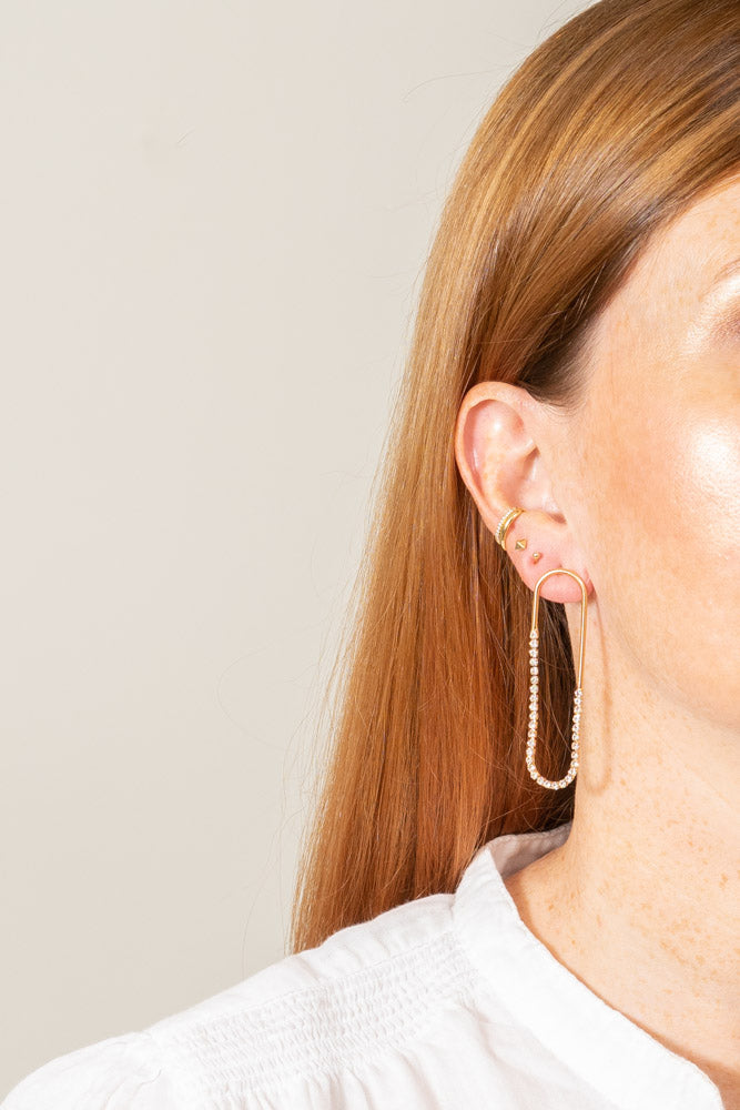 Ulrica Earrings | Crystal | 18k Gold Plating | Janna Conner