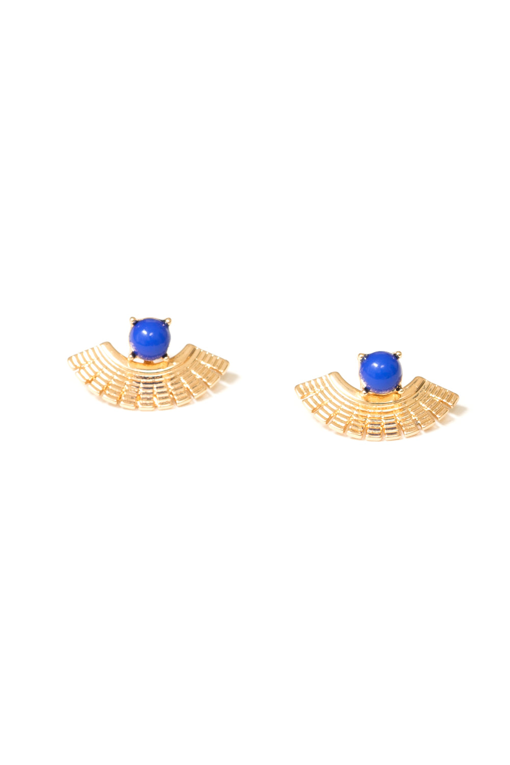 blue ear jacket earrings