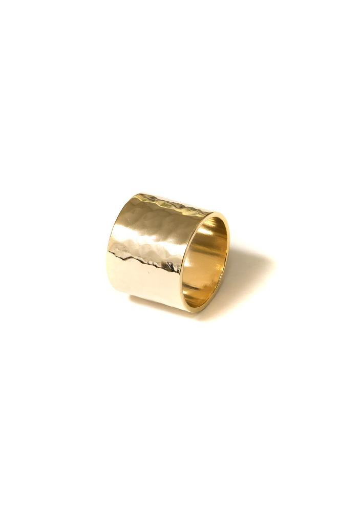 Cigar Band Ring | 18k Gold Plating | Janna Conner