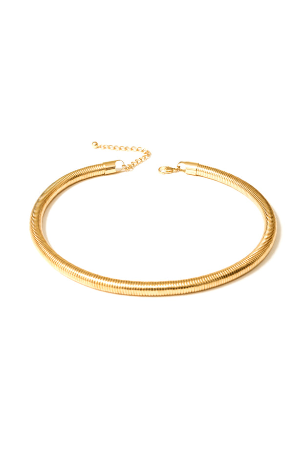 Bowen Gold Coil Necklace | 18k Gold Plating | Janna Conner