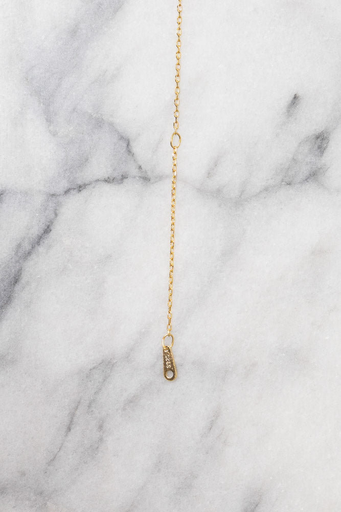 extender chain on gold necklace