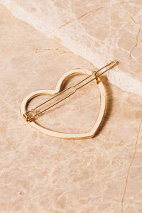 gold heart barrette