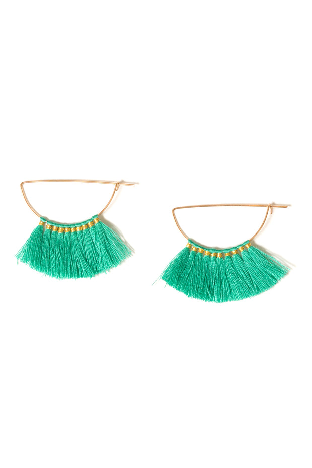 Germaine Fringe Tassel Hoops | 18k Gold Plating | Janna Conner