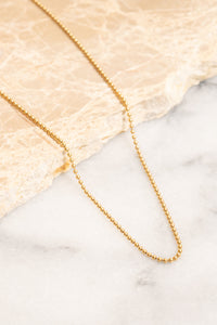 gold ball chain necklace