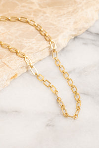 vintage style gold chain necklace