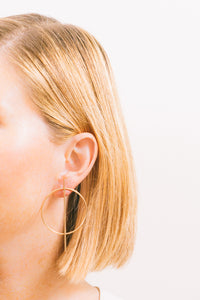 Cerce | Circle Wire Earrings | 18K Gold Plating | Janna Conner