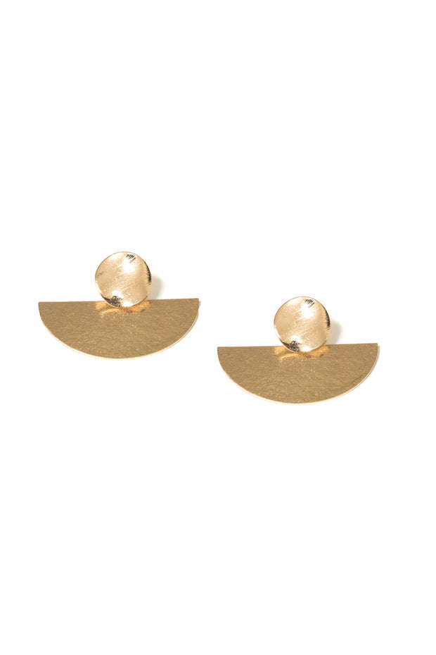 Fionnoula Circle Drop Earrings | 18K Gold Plating | Janna Conner
