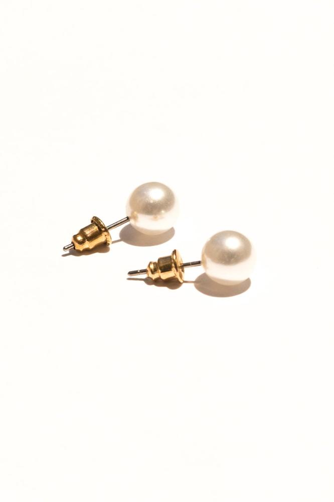 Pearl and Triangle Jacket Earrings | 18K Gold Plating | Janna Conner