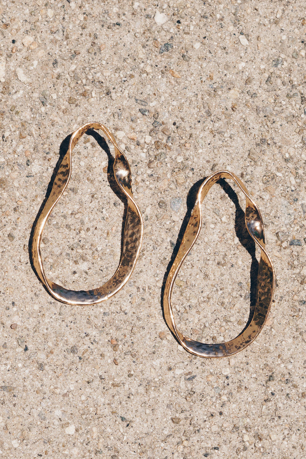 Edie | Twisted Earrings | 18K Gold Plating | Janna Conner