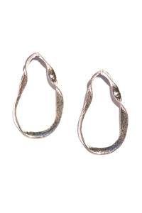 twisted metal sculptural earrings