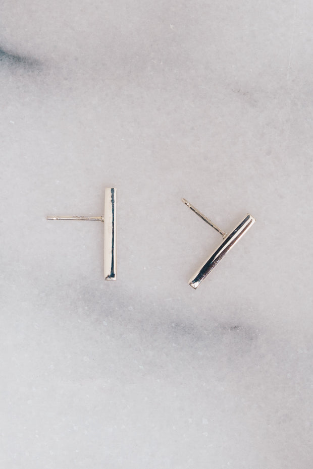 Flavie Bar Earrings | Sterling Silver | Janna Conner