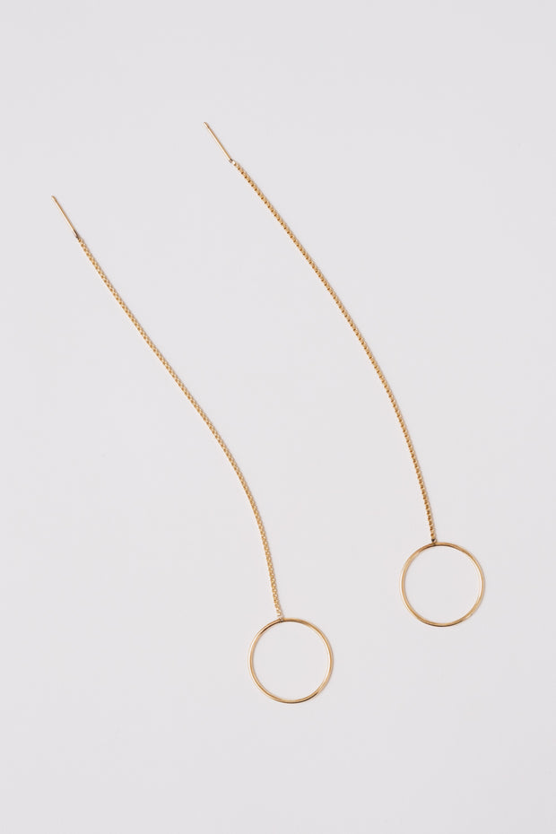 Circle Threader Earrings | 14K Gold-Filled | Janna Conner